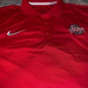 NWT Mens Nike Dri Fit Ohio State Polo Size Large